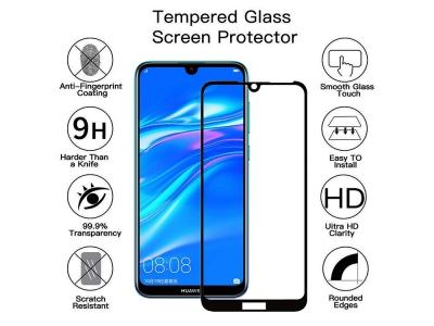 Стъклен протектор 5D Full Glue за Huawei Y7 2019/Y7 Prime 2019, Черен
