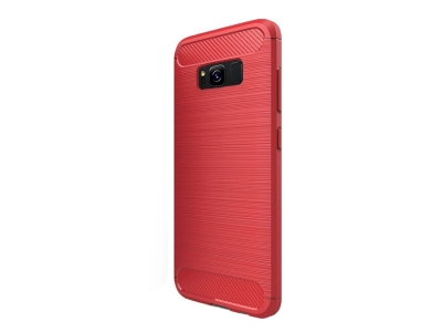 Силиконов гръб Carbon Fibre за Samsung Galaxy S8 (G950), Червен