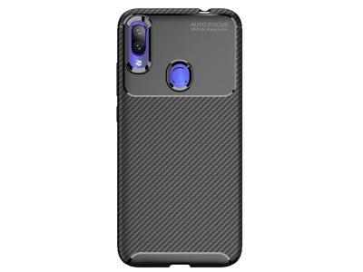 Силиконов гръб Beetle Carbon за Xiaomi Redmi Note 7, Черен