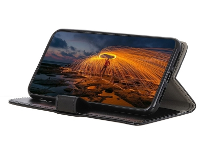 Калъф Тефтер Crazy Horse за Huawei Honor 8S, Черен