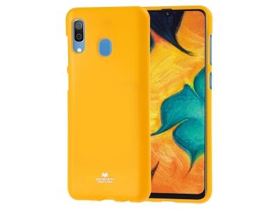 Силиконов гръб Jelly Mercury за Samsung Galaxy A40, Жълт