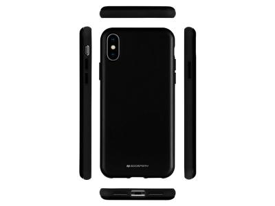 Удароустойчив Гръб Mercury SKINNY за iPhone XS Max, Черен