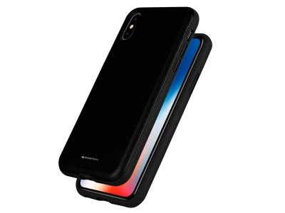 Удароустойчив Гръб Mercury SKINNY за iPhone X / XS, Черен