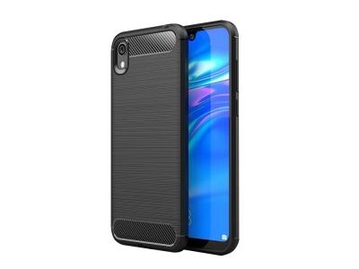 Силиконов гръб Carbon Fibre за Huawei Y5 2019, Черен