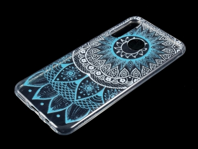 Силиконов гръб за Huawei P30 Lite , Сини елементи