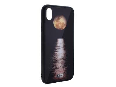 Пластмасов Гръб Glass Boter за iPhone XR (6.1), Луна