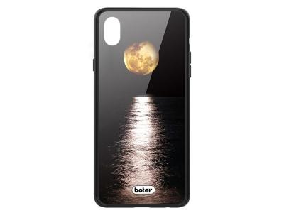 Пластмасов Гръб Glass Boter за iPhone X/ XS, Луна