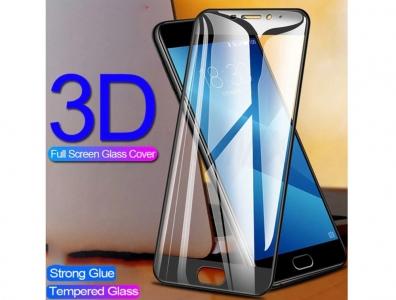 Стъклен протектор 3D Full за Meizu M5 Note, Черен