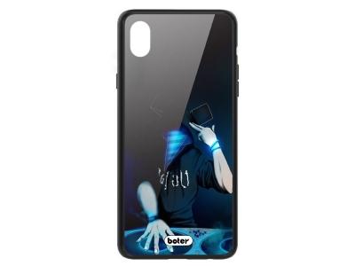 Пластмасов Гръб Glass Boter за iPhone XS Max, DJ