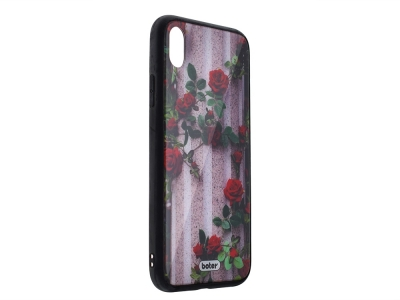 Пластмасов Гръб Glass Boter за iPhone XS Max , Рози