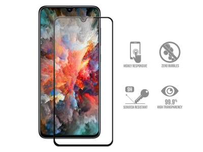 Стъклен Протектор 5D Full Glue за Samsung Galaxy A70, Черен