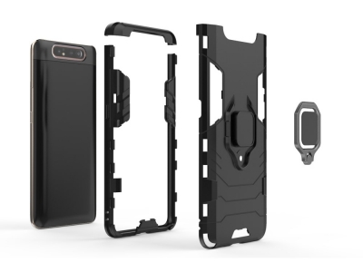 Удароустойчив Гръб Ring Holder за Samsung Galaxy A90 / A80, Черен