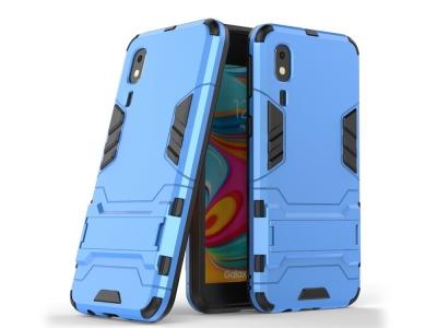 Удароустойчив гръб с Поставка за Samsung Galaxy A2 Core, Светло син