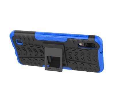Удароустойчив Калъф гръб с поставка Hybrid за Samsung Galaxy M10 / A10, Син / Черен