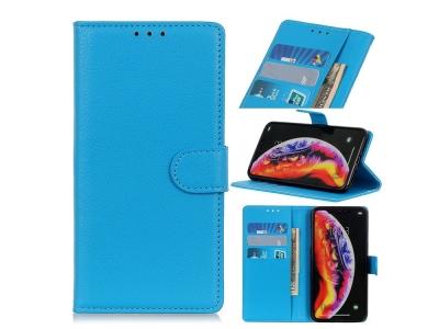 Калъф тефтер Litchi за Samsung Galaxy A10, Син