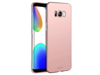 Пластмасов Гръб MOFI за Samsung Galaxy S8 (SM-G950), Розов/ Златист