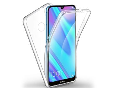 360 Градуса Калъф за Huawei Y7 2019, Прозрачен