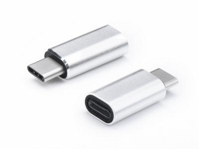 Преходник Lightning iPhone - USB Type C , Сребрист