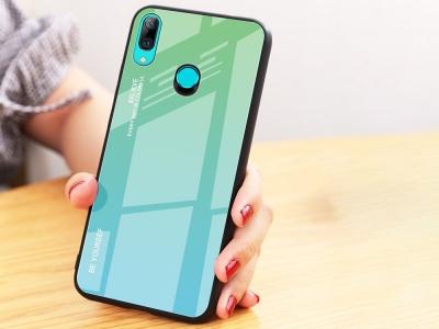 Стъклен Гръб Glass за Huawei P Smart Z 2019, Зелен/ Син