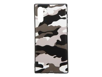 Силиконов Гръб Camouflage за Samsung Galaxy Note 10, Бял камуфлаж