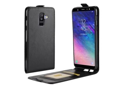 Калъф Тефтер Vertical за Samsung Galaxy A6 Plus (2018) / A9 Star Lite, Черен