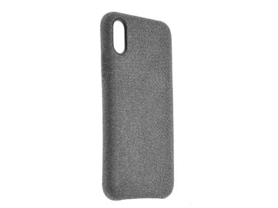 Пластмасов Гръб Texture за iPhone X / XS, Сив