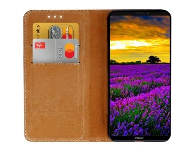 Калъф Тефтер SPECIAL ест. кожа за Huawei Honor Note 10, Черен
