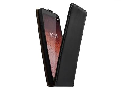 Калъф Тефтер Slim Flexy за Nokia 1 Plus, Черен