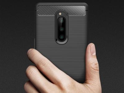 Силиконов гръб Carbon за Sony Xperia 1, Черен