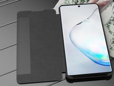 Калъф Тефтер с Прозорец за Samsung Galaxy Note 10 / Note 10 5G, Черен