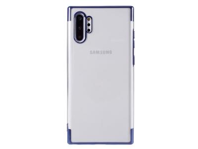 Силиконов калъф с лайсна CLEAR за Samsung Galaxy Note 10 Plus, Син