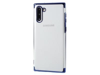 Силиконов калъф с лайсна CLEAR за Samsung Galaxy Note 10, Син
