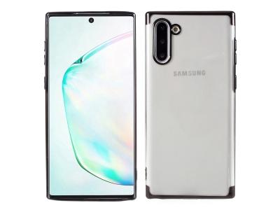 Силиконов калъф с лайсна CLEAR за Samsung Galaxy Note 10, Черен