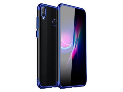 Силиконов калъф  с лайстна - CLEAR Huawei Y7 (2019) Blue