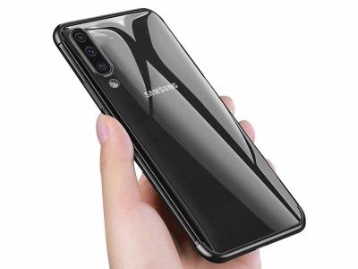 Силиконов гръл с лайсна CLEAR за Samsung Galaxy A50 / Galaxy A30s, Черен
