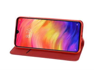Калъф тефтер Smart Book за Xiaomi Redmi Note 7, Червен