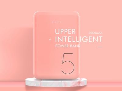 Универсална Външна Батерия Recci Upper Ru-5000mAh, Розов