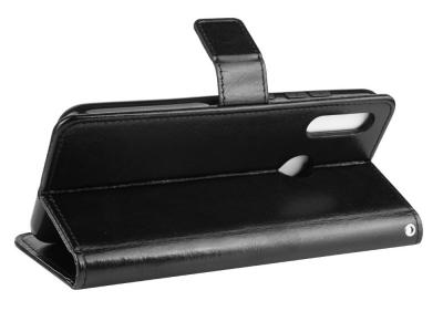 Калъф Тефтер Crazy Horse за Motorola Moto E6 Plus , Черен