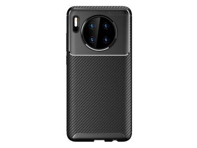 Силиконов гръб Beetle Carbon за Huawei Mate 30, Черен