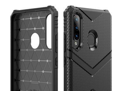 Удароустойчив Гръб Shield за Huawei P30 Lite , Черен
