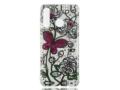 Силиконов Гръб за Huawei P30 Lite/nova 4e, Пеперуда и цветя