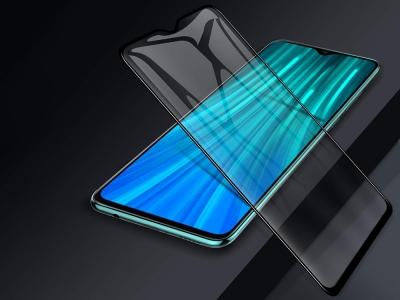 Стъкелн Протектор 5D Full Glue за Xiaomi Redmi Note 8 Pro, Черен