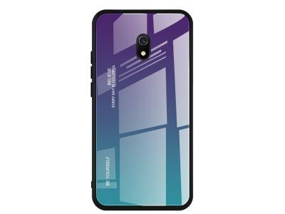 Стъклен Гръб Glass за Xiaomi Redmi 8A, Лилав / Син
