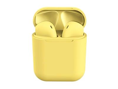 Слушалки TWS Macaron Bluetooth 5.0 Pop Up Toch Charging Box, Жълт