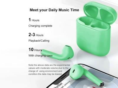 Слушалки TWS Macaron Bluetooth 5.0 Pop Up Toch Charging Box , Зелен