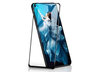 Стъклен Протектор 5D Full Glue за Huawei Honor 20 / Nova 5T, Черен