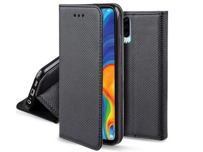 Калъф Тефтер Smart Book за Huawei P30, Черен