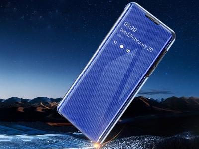 Калъф Тефтер View Window за Samsung Galaxy A70, Син