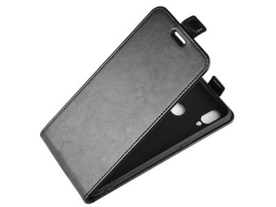 Калъф Тефтер Vertical за Samsung Galaxy A10s, Черен