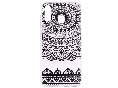 Силиконов Гръб за Samsung Galaxy A10s, Черно цвете